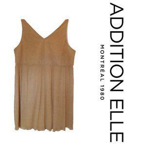 Addition Elle Gold Shimmer Cocktail Dress NWT- 3X